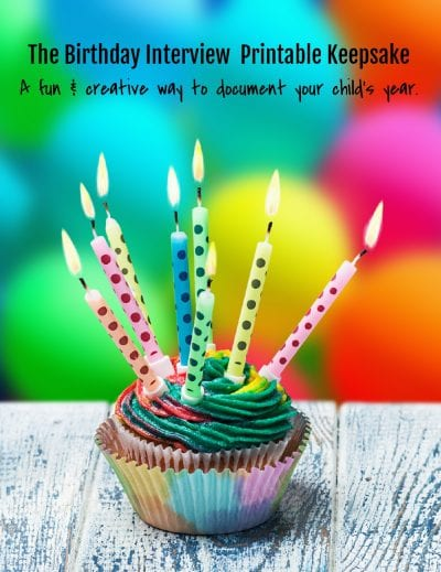 The Birthday Interview - A Creative Keepsake