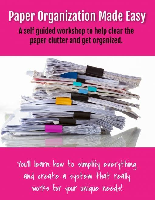 Paper Organization Made Easy Workshop